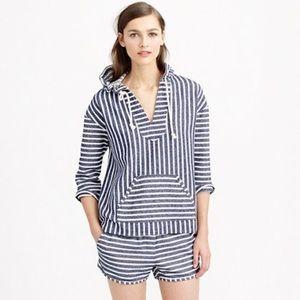 Like new J.Crew Baja striped hoodie